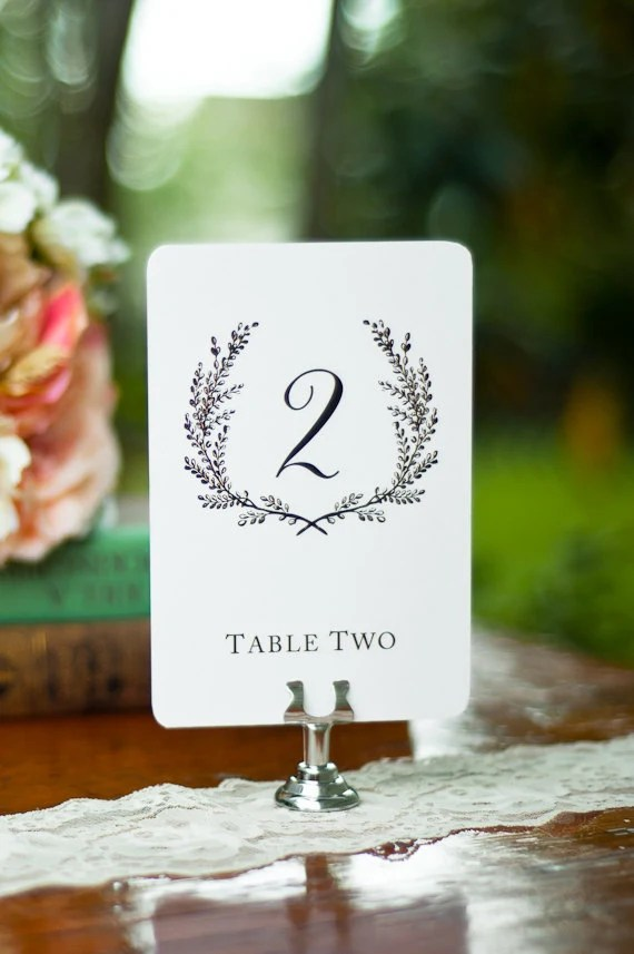 Sweet Vintage Wedding Table Number Signs 115 White Or Cream