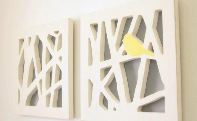 Yellow Bird Wall Art Set Yellow And Gray Wall By