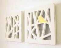 Yellow Bird Wall Art Set Yellow and Gray Wall by ...