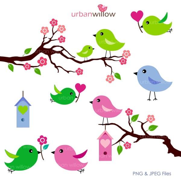 love birds apple green 6 piece