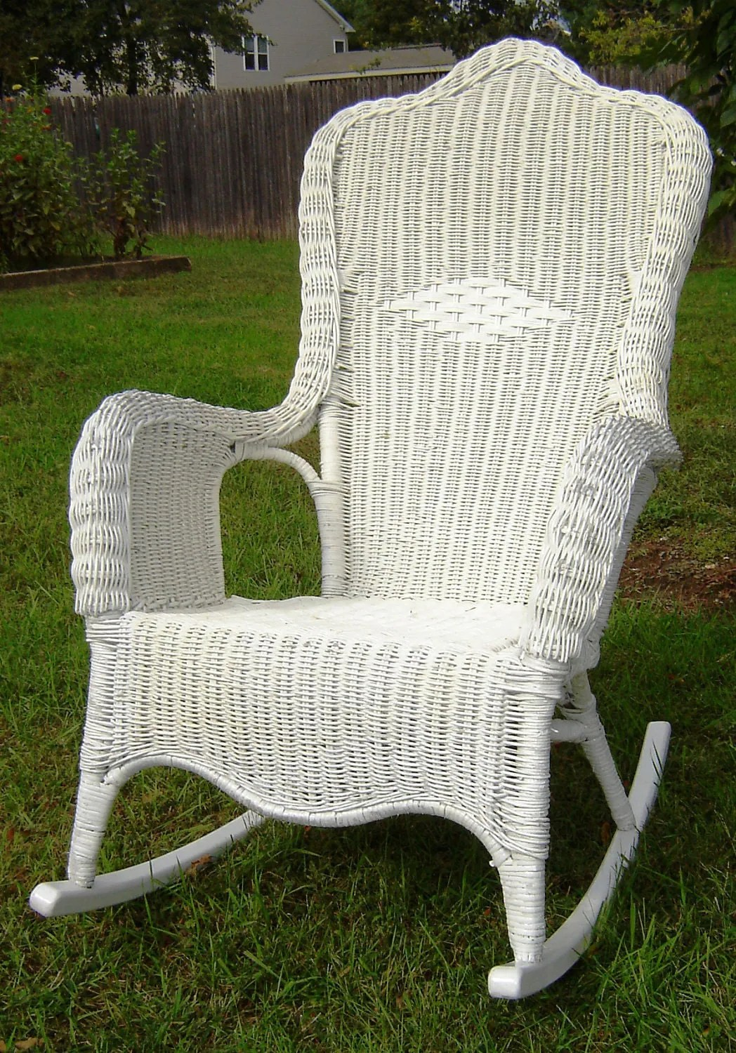 Indoor Wicker Rocking Chair Vintage White Wicker Rocking Chair