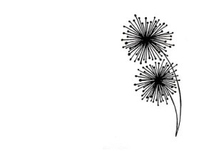 dandelion simple drawing drawings line abstract dandelions clip flower lines sharpie clipart prints doodle tattoo via artwork flowers projects pretty