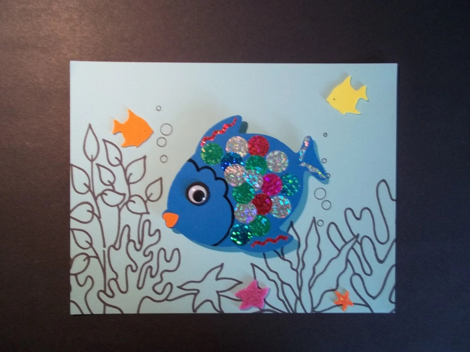 Items Similar To Rainbow Fish Craft Kit On Etsy