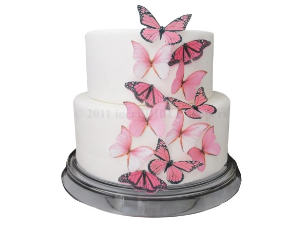 Cake Decorations Edible Butterflies 12 Large