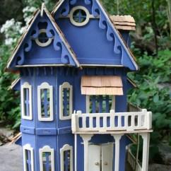 Kitchen Dinette Set Chandeliers For Miniature Blue Victorian Dollhouse