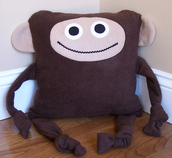 Items similar to Monkey Animal Pillow on Etsy