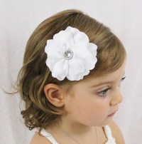 wedding hair bows white wedding flower hair bow fancy ...