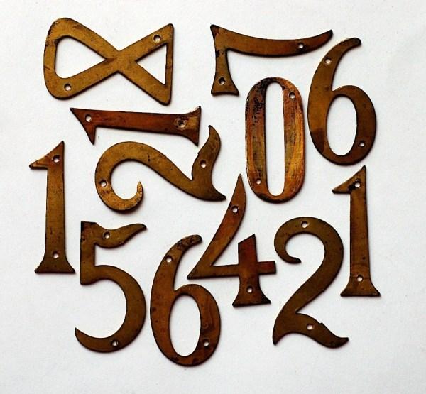 Vintage Metal House Numbers Small