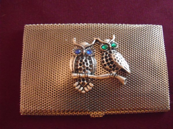 Steampunk Owl Business Card Credit Holder Wallet