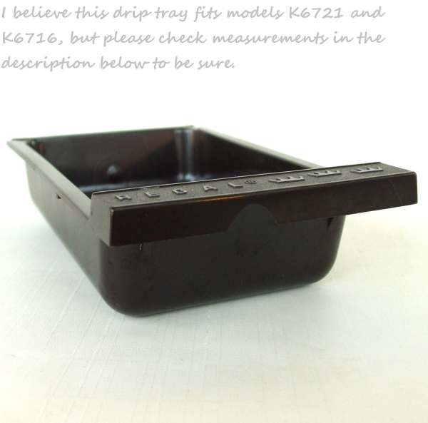 Regal Electric Griddle Replacement Part Drip Tray K6721 K6716