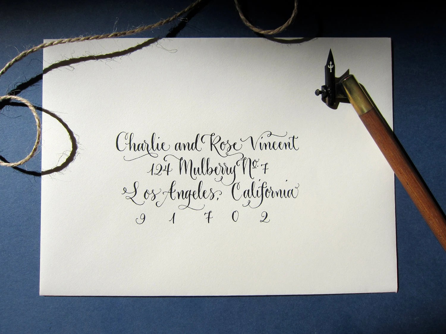 Hand Calligraphy Envelope Addressing Style Vintage