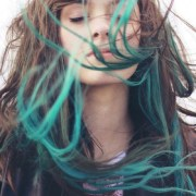 turquoise blue tip dyed hair extensions