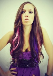 rainbow human hair extensions colored