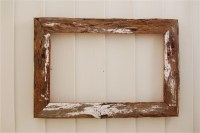 Distressed White Driftwood 12x19 rustic wood frame by ...