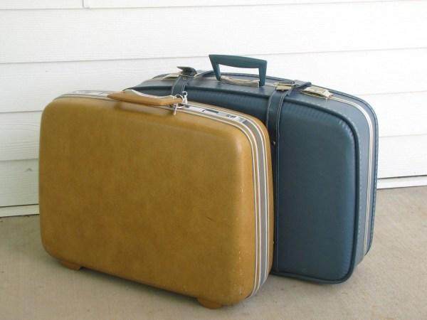 Vintage Yellow Samsonite Hardshell Suitcase With Key Retro