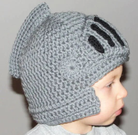 Instant Download PDF - Sir Knight Helmet Crochet Pattern