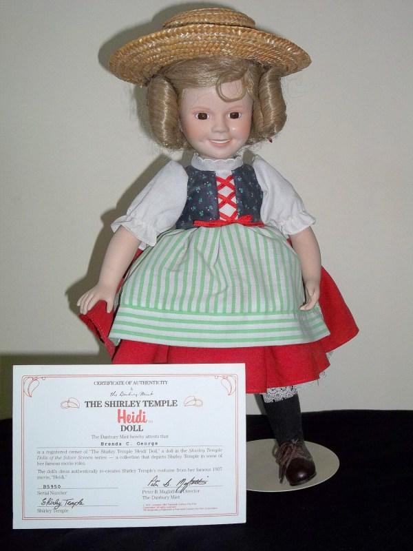 Danbury Mint Shirley Temple Porcelain Heidi Doll