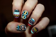 tribal aztec illuminati nail art