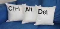 Items similar to Control Alt Delete Pillows Ctrl Alt Del ...