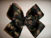 hair bow factory camo camouflage