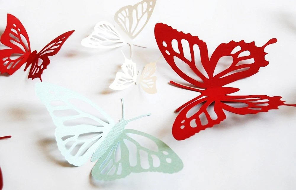 listing d paper butterfly monarch butterfly