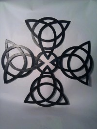 Celtic Knot Cross Wall Art by MilwaukeeBlacksmith on Etsy
