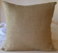 Burlap Euro Shams Pillow Cover 26 X 26 Lined For