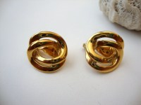 Vintage Monet Knot Earrings : Double Tied vintage by ...