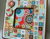 Words Theme Photo Frame for the Words With Friends, Word Search or Scrabble Lover