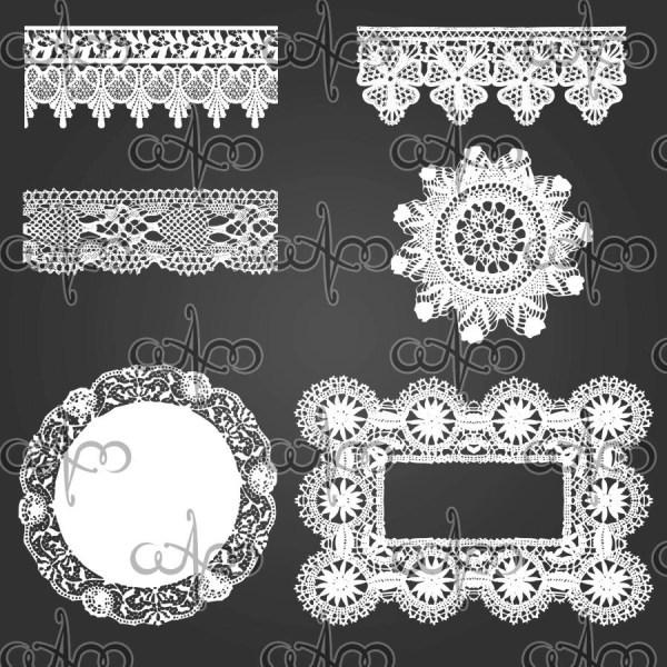 Lace Design Clip Art