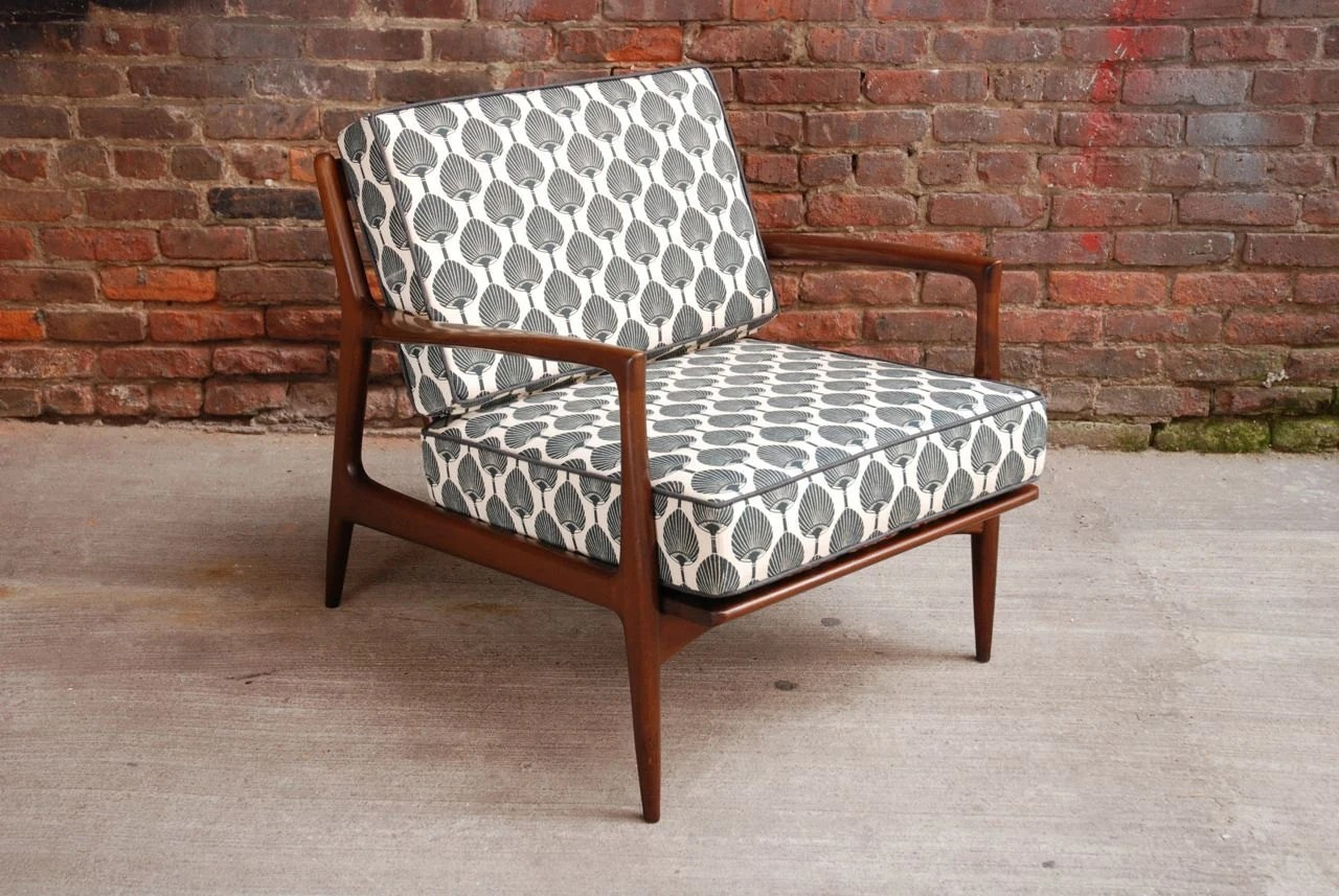 Mid Century Upholstered Chair Stunning Danish Mid Century Modern Club Chair New Upholstery
