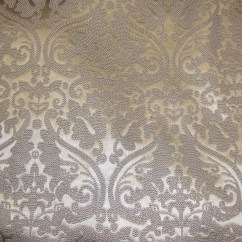 Fake Leather Sofa Upholstery Natuzzi Sleeper Vinyl Faux Silver Parisian Embossed Damask