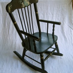 Kids Rocking Chair Adirondack Chairs All Weather Children 39s Musical Vintage Made By