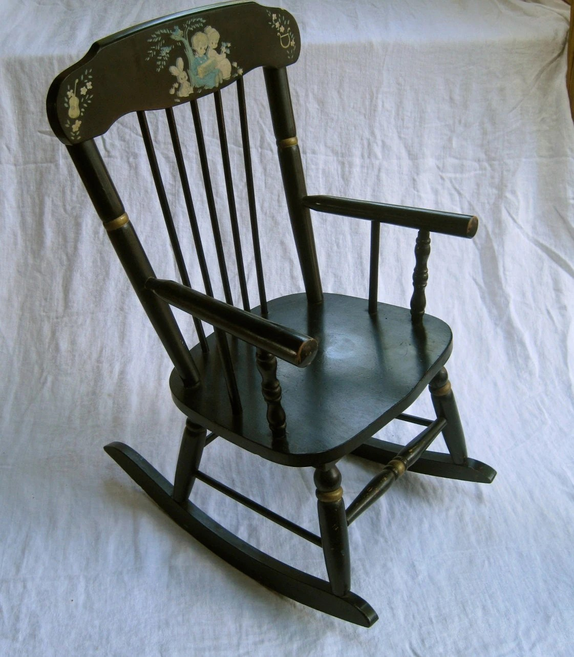 Childrens Rocking Chair Children 39s Musical Rocking Chair Vintage Made By
