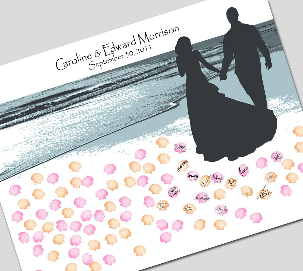 Beach or Destination Wedding guest book by fancythisphoto on Etsy