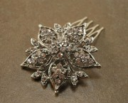 rhinestone bridal hair comb crystal