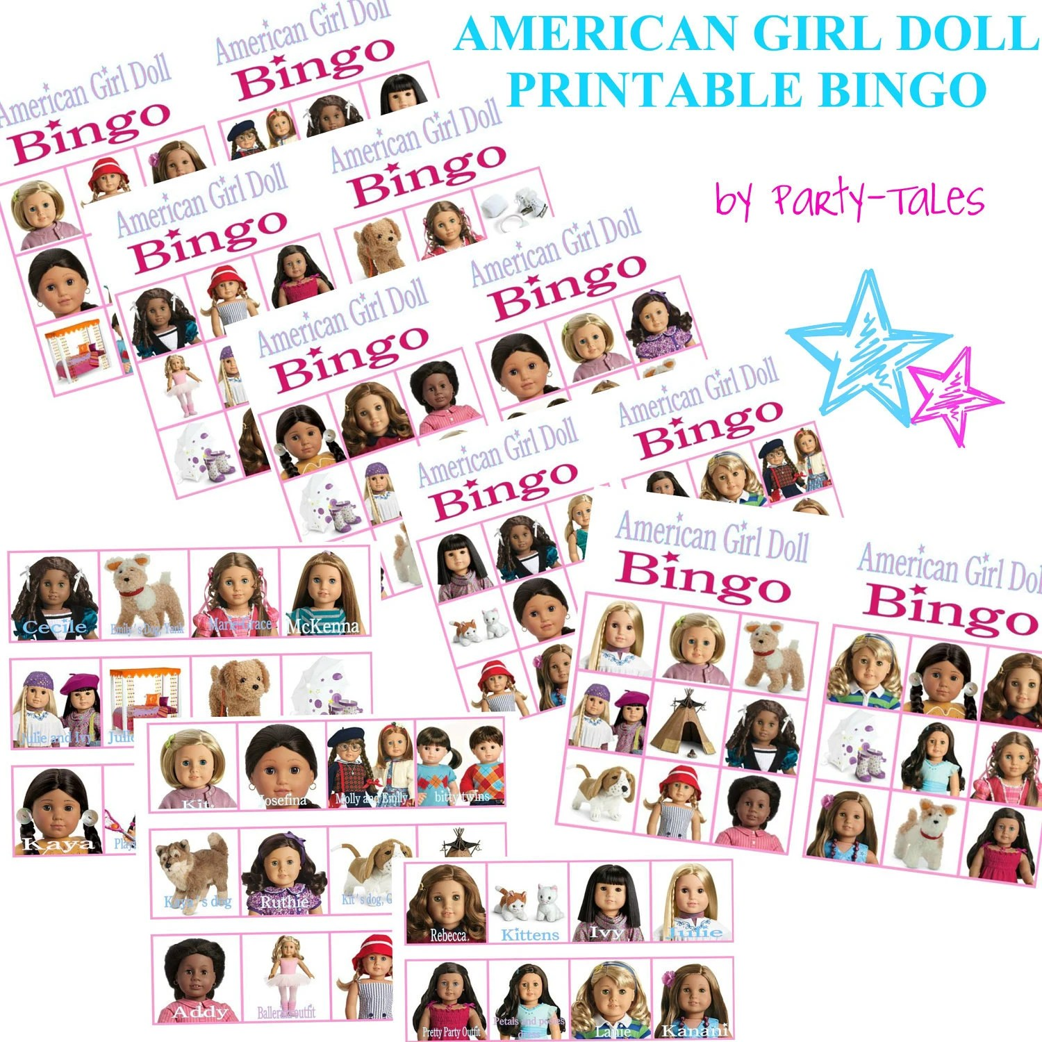 Instant Download American Girl Doll Printable By Icandyevents