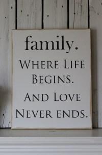 Canvas Art Wall Decor FAMILY Sign