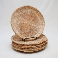 Wicker Paper Plate Holders Group Of 7