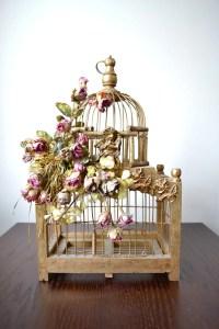 Architectural Metal Bird Cage Decorative Bird Cage Wooden