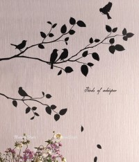 Two Branches with Flying Birds Vinyl Wall