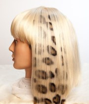 animal print hair extension 18in