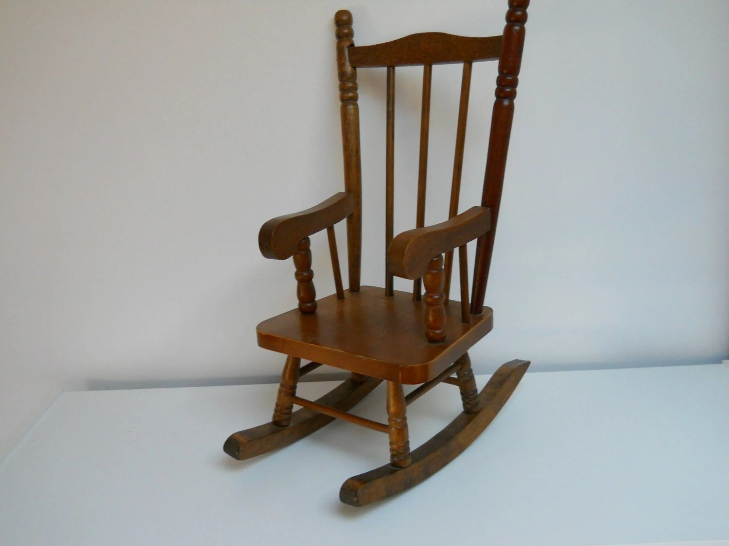 antique wooden rocking chairs large chair cushions vintage dolls wood