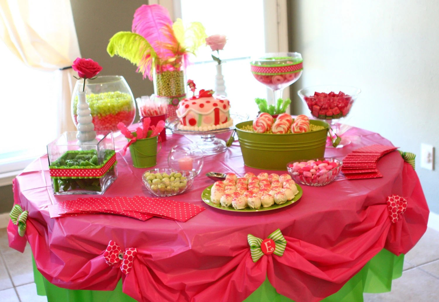 Strawberry Shortcake Party Food Qs 1st Birthday Party