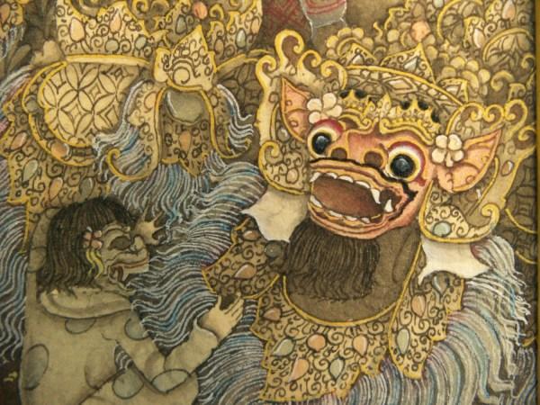 Balinese Miniature Painting Keliki Style 2 X
