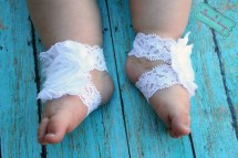 Barefoot Baby Sandals White