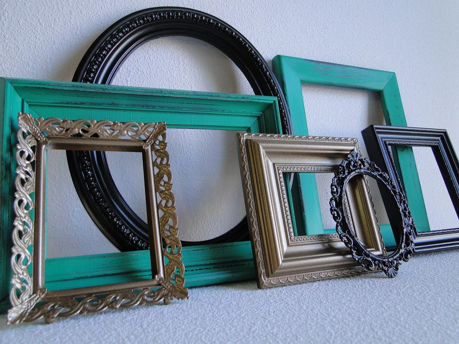 Frame Set Collection Gallery Wall Open Frames Green By