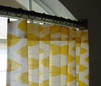 Yellow and White Ikat Curtains Chipper Rod Pocket 63 72 84