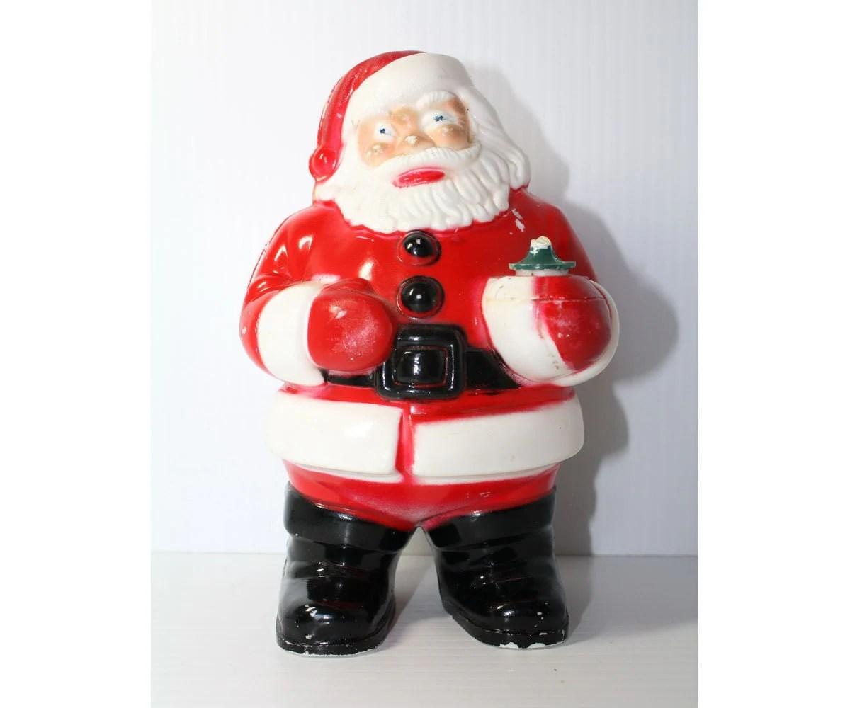 1950s Vintage Santa Claus Figure Hard Plastic By