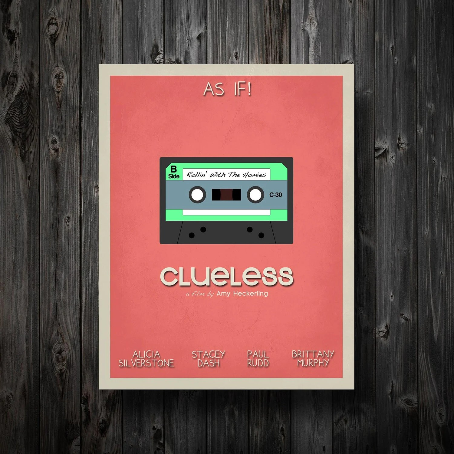 clueless movie film poster wall art